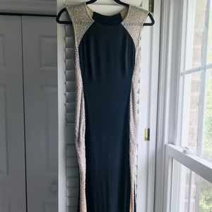 Black Fitted Evening Dress